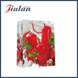Zoll-4c gedrucktes Weihnachten leuchtet Verpackungs-Einkaufen-Papier-Geschenk-Beutel durch