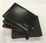 2018 Véritable Cuir de vache de l'argent collier de blocage Slim Wallet titulaire de carte RFID