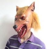 Máscara animal principal completa realista del látex del lobo para el partido Cosplay de Accourement