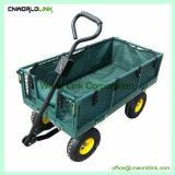 旧式なカートの緑の庭ワゴン工具細工を折る300kgs