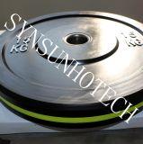 Piatto Bumper di gomma di Weightlifting olimpico di alta qualità