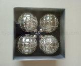 Cuadro de conjunto de ornamento de vidrio de navidad