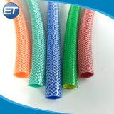 O PVC transparente de alta pressão vinil reforçado trançado com mangueira de tubulação de água