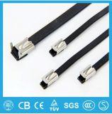 Individu enduit de PVC verrouillant le serre-câble d'acier inoxydable