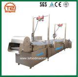 Porca automática que frita a máquina/sistema contínuo da frigideira da porca do transporte de correia