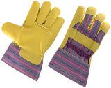 Pvc Doordrongen Katoenen van de Streep AchterHandschoen Tuinierende handschoen-2801 van het Werk