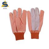 Пвх пунктирной просверлите хлопка рабочей хлопок перчатки