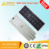 Tudo em um único sistema integrado de iluminação LED 80W Luz Rua Solar (CH-SSL-280)