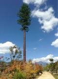 単一の管によって隠される木の電気通信タワー