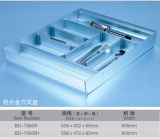 Oppein現代PVC終わりの木製の食器棚(BY-L-136)