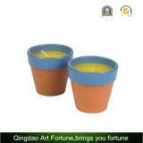 Candele della citronella del giardino in POT di ceramica naturale per uso esterno