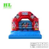 スポーツのゲームを跳んでいる子供のためにCutomizedの赤レンガの構造の障害の膨脹可能な城の警備員を熱販売すること