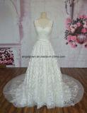 В шею 2016 горячая продажа свадебные платья Lace Applique длинные поезда свадебные платья