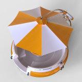 [بّق] زورق مصغّرة مع مظلة على أعلى