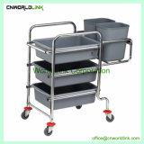 サイズのプラットホームの食事用食器セットのカートをカスタマイズするステンレス鋼
