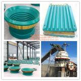 Alte parti di usura del frantoio a mascella del piatto della mascella d'acciaio del manganese