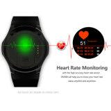 心拍数のモニタが付いている3G/WiFi円形スクリーンのスマートな腕時計