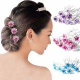 A flor de cristal de Diamante Rosa do casamento nupcial das mulheres da forma fixa o cabelo