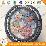 Suministro de la fábrica 0.6/1kv de 4 núcleos de 4mm cable de PVC de 1,5 mm2 Cables XLPE SWA PVC