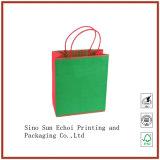 L'Impression offset sur papier couché, sac à main sac cadeau avec ruban de soie