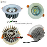 diodo emissor de luz de venda quente Recessed 20W Downlight do entalhe do grau 110mm do diodo emissor de luz Downlight Dimmable 50