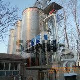 農場の穀物の記憶の鋼鉄サイロ