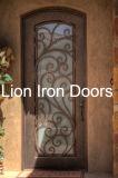 Kundenspezifische bearbeitetes Eisen-einzelne Einstiegstür für Haus