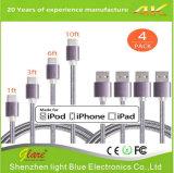 Tresse de câble de données de téléphone mobile pour iPhone 7