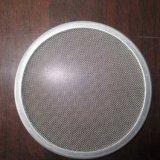 Maille cylindrique d'éléments filtrants d'acier inoxydable
