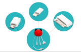 3 in 1 USB Cable voor iPhone Micro USB Data Cable