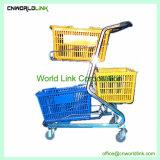 Три Корзина Корзина супермаркет при перемещении тележки