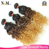 8Aは織り方の毛のサンプルOmbreの毛の束のペルー2の調子の人間の毛髪の織り方を解放する