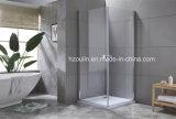 Deux porte pliante avec boîtier de douche en verre clair de 8 mm