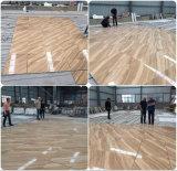 Carrelage de sol en marbre jaune en bois d'accueil pour la rénovation
