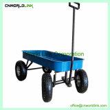 Ferramenta de jardim de madeira para crianças a dobragem Carrinho de puxar do vagão transportar o vagão