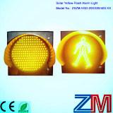 Indicatore luminoso d'avvertimento infiammante alimentato solare di colore giallo della lampada/LED istantaneo di traffico