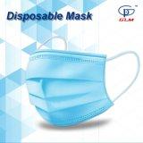 Maschera di protezione protettiva della polvere civile non tessuta a gettare pieghevole 3-Ply per