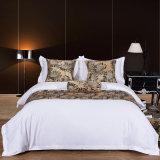 Hôtel 200TC Textile Linge de lit King Size en coton jeu de feuilles de lit blanc Hôtel Ensemble de literie