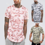 Fashion coton Logo personnalisé les hommes de gros de vêtements de mode d'usure de sports Camo T-shirts