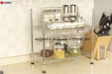Mensola dei fornelli di riso della rastrelliera della spezia di memoria della fila della mensola 2 della cucina del forno a microonde di DIY sulla Tabella