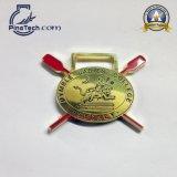 Medaglia personalizzata di sport di baseball con rivestimento d'argento lucido