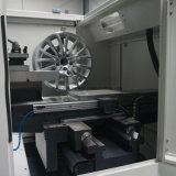 Ausgebaute Legierungs-Rad-Felgen-Diamant-Ausschnitt-Reparatur CNC-Drehbank-Maschine Awr28hpc
