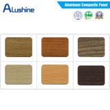 PVDF покрывая панель деревянной отделки алюминиевую составную (ширина 1500mm)