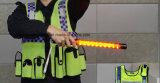 Senken multifuncional policía iluminación Baton con silbato