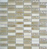 光り輝くクリスタルモザイクミックスストーンタイル、大理石タイルモザイク装飾、石壁モザイク (148FS01)