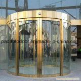 스테인리스 완료를 가진 황금 색깔 아크 아크 유리제 미닫이 문