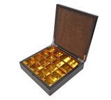 Grande caixa de presente de madeira com revestimento da impressão do Silkscreen para o pacote das tâmaras