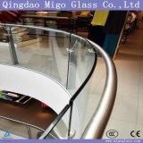Railing Tempered стекла 8mm 10mm 12mm 15mm 19mm высокий Polished ясный изогнутый