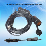 12V 24V Car Cigarette Lighter Power Socket con Extension Cable e Waterproof Cap