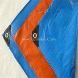 blaues orange HDPE 120GSM Polyplane mit Ösen